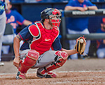 8 March 2015: Boston Red Sox catcher Blake Swihart in Spring Training action against the New York Mets at Tradition Field in Port St. Lucie, Florida. The Mets fell to the Red Sox 6-3 in Grapefruit League play. Mandatory Credit: Ed Wolfstein Photo *** RAW (NEF) Image File Available ***