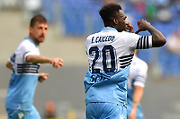 Felipe Caicedo of Lazio celebrates after scoring the goal of 1-2 during the Serie A 2018/2019 football match between SS Lazio and AC Chievo Verona at stadio Olimpico, Roma, April, 20, 2019 <br /> Photo Antonietta Baldassarre / Insidefoto