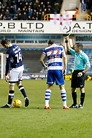Pawel Wszolek of Queens Park Rangers is booked during the Sky Bet Championship match between Millwall and Queens Park Rangers at The Den, London, England on 29 December 2017. Photo by Carlton Myrie / PRiME Media Images.