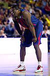 FC Barcelona's Joey Dorsey during Liga Endesa ACB 2013-2014 match against Gipuzkoa Basket Club. November 3, 2013. (ALTERPHOTOS/Alex Caparros)