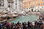 Rome, Italy; May 26, 2012 -- Trevi Fountain, Fontana di Trevi, a popular, baroque tourist attraction; architecture, tourism, culture, art -- Photo: © HorstWagner.eu