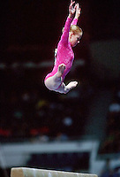July 22, 1998; New York, NY, USA; Artistic gymnast Zeena McLaughlin of Australia performs on balance beam at 1998 Goodwill Games New York. Copyright 1998 Tom Theobald