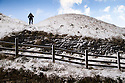 08/12/14<br /> <br /> A hiker makes his way up Mam Tor near Castleton.<br /> <br /> After overnight snowfall in Debyshire dawn reveals stunning snowscapes across the Peak District.<br /> <br /> ***ANY UK EDITORIAL PRINT USE WILL ATTRACT A MINIMUM FEE OF &pound;130. THIS IS STRICTLY A MINIMUM. USUAL SPACE-RATES WILL APPLY TO IMAGES THAT WOULD NORMALLY ATTRACT A HIGHER FEE . PRICE FOR WEB USE WILL BE NEGOTIATED SEPARATELY***<br /> <br /> <br /> All Rights Reserved - F Stop Press. www.fstoppress.com. Tel: +44 (0)1335 300098