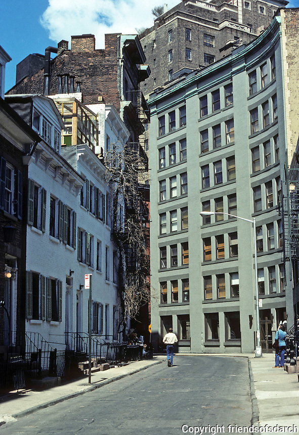 New York City: Gay St., Greenwich Village. Between Christopher St. and Waverly Place. Photo '78.