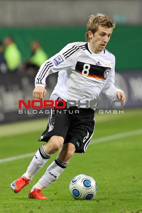 L&permil;nderspiel<br /> WM 2010 Qualifikatonsspiel Qualificationmatch Leipzig 28.03.2009 Zentralstadion Gruppe 4 Group Four <br /> <br /> Deutschland ( GER ) - Liechtenstein ( LIS ) 4:0 (2:0)<br /> <br /> Marko Marin (#8 M&cedil;nchen Gladbach Deutsche Nationalmannschaft).<br /> <br /> Foto &copy; nph (  nordphoto  )<br />  *** Local Caption ***