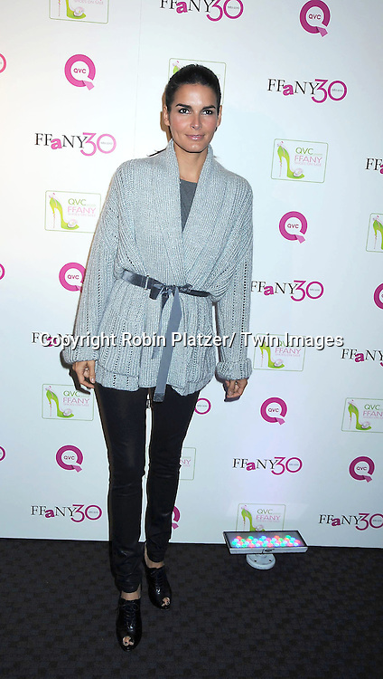"""Angie Harmon attending The QVC Presents """"FFANY Shoes on Sale"""" at Frederick P Rose Hall, Home of Jazz at Lincoln Center on October 13, 2010 in New York City."""