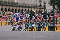 the teams of Peter Sagan (Bora-Hansgrohe) and Arnaud Demare (FDJ) did the pacemaking in the bunch<br /> <br /> Stage 21: Houilles > Paris / Champs-Élysées (115km)<br /> <br /> 105th Tour de France 2018<br /> ©kramon