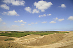 Israel, a view west from Tel Gamma in the Northern Negev, site of the Canaanite city Yurzah