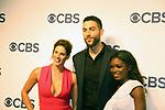Missy Peregrym, Zeeko Zaki, Ebonee Noel - FBI - CBS Upfront 2018 on May 17, 2018 at the Plaza Hotel, New York City, New York with new Prime Time 2018-19 shows (Photo by Sue Coflin/Max Photo)