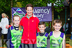 Enjoying the Killarney Valley AC launch with Sonia O'Sullivan in Killarney on Sunday were l-r: Aoibhin Evans, Oisin and Cian lynch