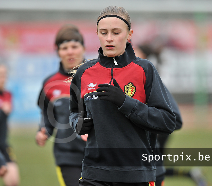 France U19 - Belgium U19 : Julie Biesmans.foto DAVID CATRY / Nikonpro.be