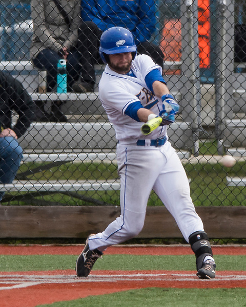VANCOUVER,BC:APRIL 23, 2017 -- UBC Thunderbirds Oregon Tech Institute Hustling Owls during NAIA baseball action at UBC in Vancouver, BC, April, 23, 2017. (Rich Lam/UBC Athletics Photo) <br /> <br /> ***MANDATORY CREDIT***
