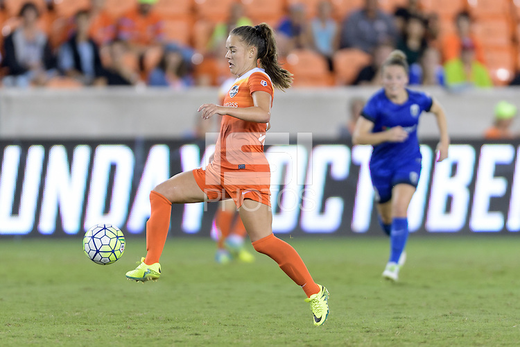 Houston, TX - Sunday Sept. 25, 2016: Andressa Machry during a regular season National Women's Soccer League (NWSL) match between the Houston Dash and the Seattle Reign FC at BBVA Compass Stadium.
