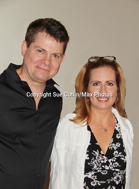 "As The World Turns' Martha Bryne poses with Trent Dawson who wrote ""The F"" held a Benefit for the film on June 22, 2018 at the Freeman Studio, New York City, New York. (Photo by Sue Coflin/Max Photo)"