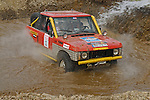 Range Rover Classic, racing at the Rallye Dresden Breslau 2007, crossing through a ford. --- No releases available. Automotive trademarks are the property of the trademark holder, authorization may be needed for some uses.