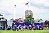 Gerina Piller (USA) watches her tee shot on 10 during Thursday's round 1 of the 2017 KPMG Women's PGA Championship, at Olympia Fields Country Club, Olympia Fields, Illinois. 6/29/2017.<br /> Picture: Golffile | Ken Murray<br /> <br /> <br /> All photo usage must carry mandatory copyright credit (&copy; Golffile | Ken Murray)