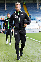LEEDS, ENGLAND - AUGUST 31: Jake Bidwell of Swansea City arrives prior to the game during the Sky Bet Championship match between Leeds United and Swansea City at Elland Road on August 31, 2019 in Leeds, England. (Photo by Athena Pictures/Getty Images)