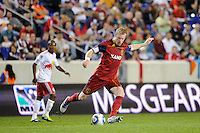 Nat Borchers (6) of Real Salt Lake. Real Salt Lake defeated the New York Red Bulls 3-1 during a Major League Soccer (MLS) match at Red Bull Arena in Harrison, NJ, on September 21, 2011.