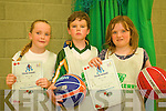 Future basketball players Allanagh O'Sullivan, Jack Nolan and Mairead Kearney with their certificates from the week-long Basketball camp in Causeway