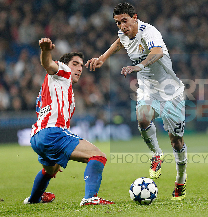 Atletico de Madrid's Raul Garcia and Real Madrid's Angel Di Maria during spanish cup match on January 13th 2011...Photo: Cesar Cebolla / ALFAQUI