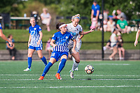Boston, MA - Saturday June 24, 2017: Tiffany Weimer and Kristen Hamilton during a regular season National Women's Soccer League (NWSL) match between the Boston Breakers and the North Carolina Courage at Jordan Field.
