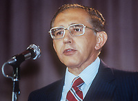 Guillermo Ungo, politician, San Salvador, fraternal delegate, annual conference, Labour Party, UK, October, 1982, 198210000485GU<br /><br />Copyright Image from Victor Patterson, 54 Dorchester Park, <br />Belfast, UK, BT9 6RJ<br /><br />t1: +44 28 9066 1296 (from Rep of Ireland 048 9066 1296)<br />t2: +44 28 9002 2446 (from Rep of Ireland 048 9002 2446)<br />m: +44 7802 353836<br /><br />victorpatterson@me.com<br />victorpattersonbelfast@gmail.com<br /><br />Please see my Terms and Conditions of Use at victorpatterson.com. It is IMPORTANT that you familiarise yourself with them.<br /><br />Images used on the Internet incur an additional cost and must be visibly watermarked i.e. &copy;Victor Patterson within the body of the image and copyright metadata must not be deleted. Images used on the Internet have a size restriction of 4kbs and are chargeable at rates available at victorpatterson.com.<br /><br />This image is available only for the use of the download recipient i.e. television station, newspaper, magazine, book publisher, etc, and must not be passed on to any third party. It is also downloaded on condition that each and every usage is notified within 7 days to victorpatterson@me.com<br /><br />The right of Victor Patterson (or the named photographer) to be identified as the author is asserted in accordance with The Copyright Designs And Patents Act (1988). All moral rights are asserted.