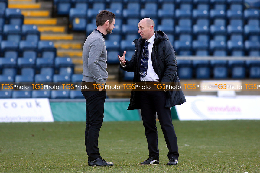 Referee Mr A Davies chats with Fleetwood manager, Graham Alexander  - Wycombe Wanderers vs Fleetwood Town - Sky Bet League Two Football at Adams Park, High Wycombe, Buckinghamshire - 29/12/13 - MANDATORY CREDIT: Paul Dennis/TGSPHOTO - Self billing applies where appropriate - 0845 094 6026 - contact@tgsphoto.co.uk - NO UNPAID USE