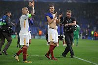 Edin Dzeko e Radja Nanggolan<br /> Londra 18-10-2017 Stamford Bridge Football Champions League 2017/2018 Chelsea - Roma <br /> Foto Gino Mancini / Insidefoto