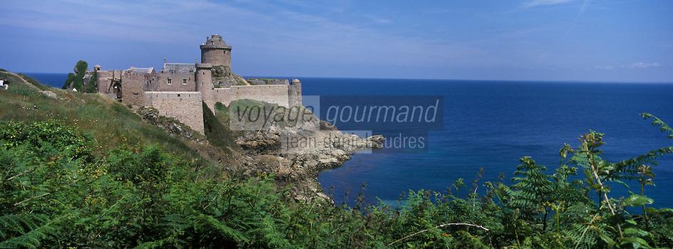 Europe/France/Bretagne/22/Cotes d'Armor/Côtes d'Armor/Env du Cap Fréhel : Le château de la Roche Goyon ou fort la Latte