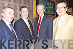 Enjoying themselves at the Golf Club Captain's Dinner held in Ballyroe Heights Hotel on Friday night were l/r Tom Moore, Pa Laide, Diarmuid Leen and Chris Shortt....................................................................................................................................................................................................................................................................................................... ............