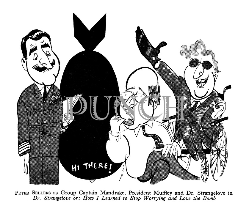 Peter Sellers as Group Captain Mandrake, President Muffley and Dr. Strangelove in Dr. Strangelove or: How I Learned to Stop Worrying and Love the Bomb