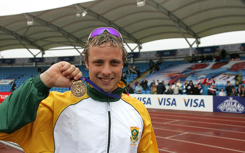 Photo: Paul Thomas..VISA Paralympic World Cup 2007. Athletics. 13/05/2007...Oscar Pristorius of South Africa.