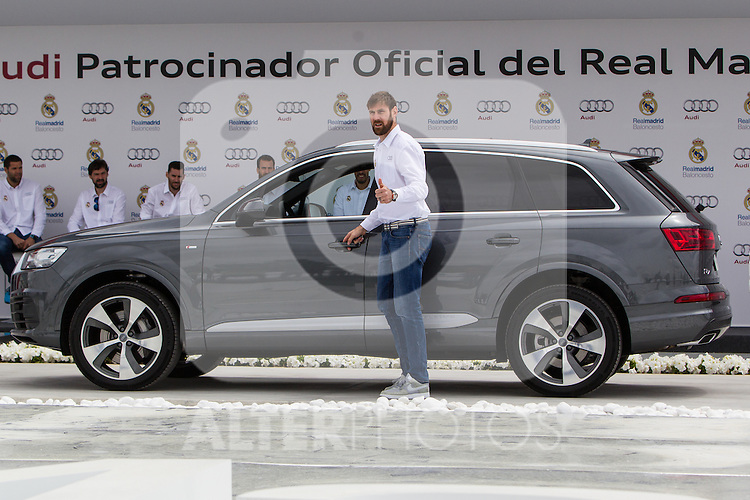 Andres Nocioni during the Audi Car delivery, at the basketball players of the Real Madrid. May 25,2016. (ALTERPHOTOS/Rodrigo Jimenez)