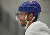 Jordan Eberle #7, New York Islanders recently-acquired center, practices during team training camp at Northwell Health Ice Center in East Meadow on Friday, Sept. 15, 2017.