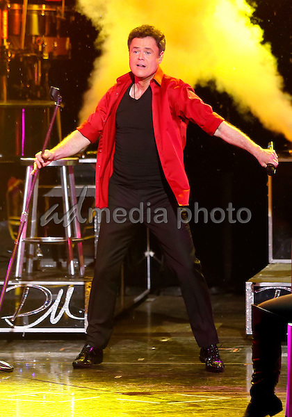 09 February 2016 - Las Vegas, Nevada - Donny Osmond. Donny and Marie Osmond's first Las Vegas  performance of 2013 with the unveiling of their Madame Tussaud's Wax Figures at Flamingo Las Vegas. Photo Credit: MJT/AdMedia