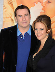 """HOLLYWOOD, CA. - March 25: John Travolta and Kelly Preston arrive to """"The Last Song"""" Los Angeles Premiere at ArcLight Hollywood on March 25, 2010 in Hollywood, California."""