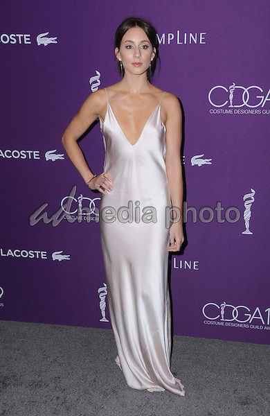 21 February 2017 - Beverly Hills, California - Troian Bellisario.  19th Costume Designers Guild Awards held at The Beverly Hilton Hotel. Photo Credit: Birdie Thompson/AdMedia