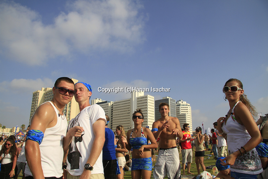 Israel, Tel Aviv, a party at Charles Clore Park