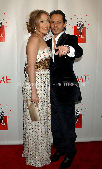 WWW.ACEPIXS.COM . . . . . ....NEW YORK, MAY 8, 2006....Jennifer Lopez and Marc Anthony at Time Magazine's 100 Most Influential People 2006.....Please byline: KRISTIN CALLAHAN - ACEPIXS.COM.. . . . . . ..Ace Pictures, Inc:  ..(212) 243-8787 or (646) 679 0430..e-mail: picturedesk@acepixs.com..web: http://www.acepixs.com
