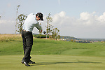 Jusin Rose tees off on the opening hole during the final round singles of the Seve Trophy at The Heritage Golf Resort, Killenard,Co.Laois, Ireland 30th September 2007 (Photo by Eoin Clarke/GOLFFILE)