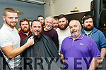Barber Darren Sweeney shaves the beard of Rob Browne, both Tralee with many others taking part in the Movember challenge for Recovery Haven, Tralee, last Saturday night in the Slievemish bar.