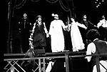 Curtain Call for THE PIRATES OF PENZANCE at the Minskoff Theatre in New York City..Cast features: Kaye Ballard, Maureen McGovern, Rex Smith & Kevin Kline..September 1981.© Walter McBride /