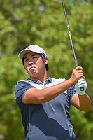 Byeong Hun An (KOR) watches his tee shot on 2 during day 1 of the Valero Texas Open, at the TPC San Antonio Oaks Course, San Antonio, Texas, USA. 4/4/2019.<br /> Picture: Golffile | Ken Murray<br /> <br /> <br /> All photo usage must carry mandatory copyright credit (© Golffile | Ken Murray)