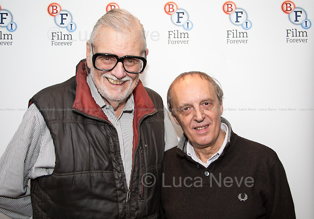 (from L to R) George A. Romero &amp; Dario Argento.<br />
