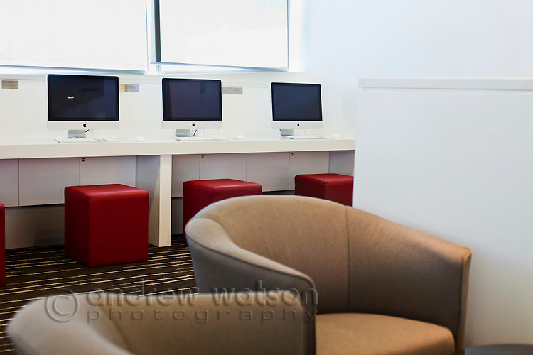 Internet point at Qantas Club Lounge.  Cairns Domestic Airport, Cairns, Queensland, Australia