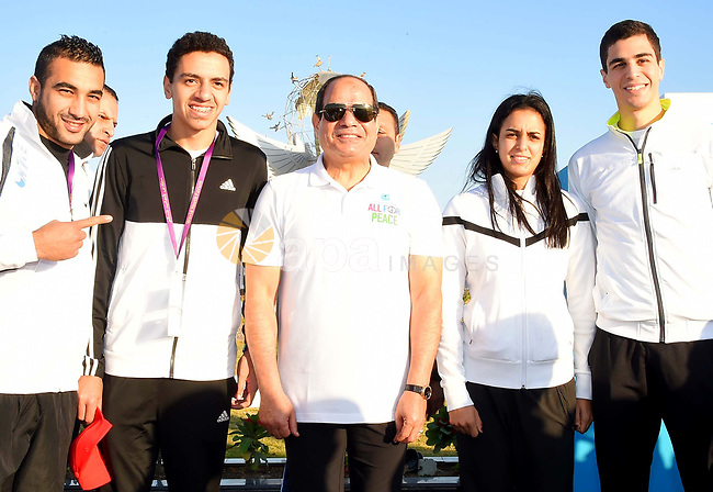 Egyptian President Abdel-Fattah al-Sisi takes part in the World Peace Marathon, in Sharm El Sheikh, Egypt, on November 7, 2017. Photo by Egyptian President Office