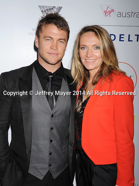 SANTA MONICA, CA- OCTOBER 26: Actor Luke Hemsworth and wife Samantha Hemsworth attend the 3rd Annual Australians in Film Awards Benefit Gala at the Fairmont Miramar Hotel on October 26, 2014 in Santa Monica, California.