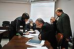 "MEDENINE - TUNISIA - 14 March 2012 -- European Training Foundation (ETF) / Tunisian Ministry of Vocational Training and Employment (MFPE) -  ""Human Capital for Regional Socio-Economic Development (Medenine, Tunisia)"" - Project Launch Workshop -- Kristien Van den Eynde, ETF, (L) speaks to workshop attendees  -- PHOTO: Lindsay MACKENZIE / EUP-IMAGES.."