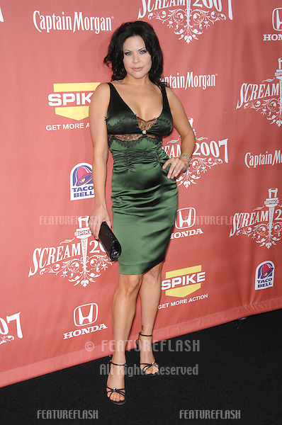 "Christa Campbell at Spike TV's ""Scream 2007"" Awards honoring the best in horror, sci-fi, fantasy & comic genres, at the Greak Theatre, Hollywood..October 20, 2007  Los Angeles, CA.Picture: Paul Smith / Featureflash"