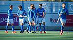 UTRECHT -   Kampong heeft gescoord  tijdens  de hoofdklasse hockeywedstrijd mannen, Kampong-Amsterdam (4-3).  COPYRIGHT KOEN SUYK